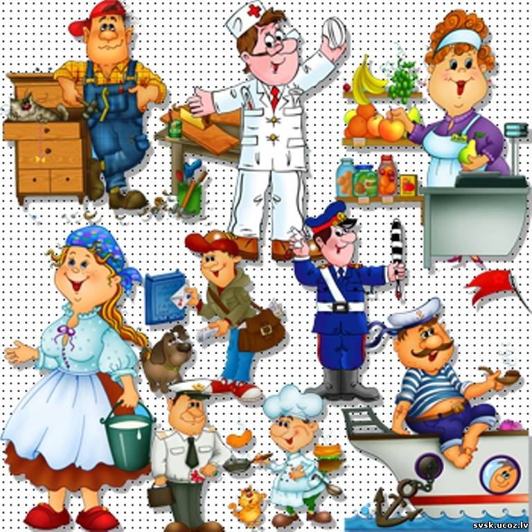 """Клипарт - 10 профессий """" PixelBrush - Портал о дизайне. Скачать фото, картинки, обои, рисунки, иконки, клипарты, векторный клипа"""