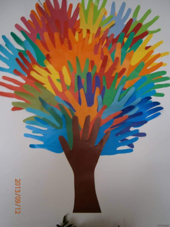 Дерево из ладошек своими руками 87